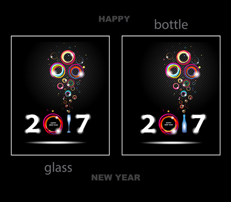 Happy New Year 2017. Abstract background Çizim