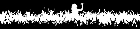 oration: White Background for music party and concerts.