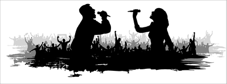 Silhouette Background for music party and concerts.