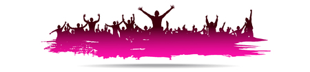 rap: Pink Background for sporting events and concerts.