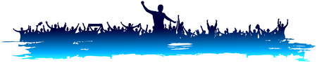 Cool blue Background for sporting events and concerts.