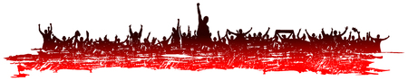 rapping: Red Background for sporting events and concerts. Illustration