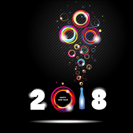 Szczęśliwego Nowego Roku 2018. Streszczenie plakat