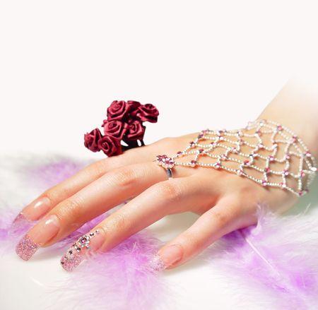 beautiful female hand Stock Photo