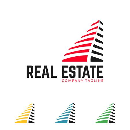 real estate logo, building logo set template Иллюстрация