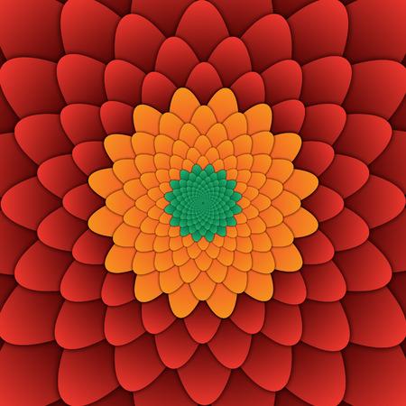 abstract flower mandala decorative pattern red background square image, illusion image pattern, background photo Фото со стока