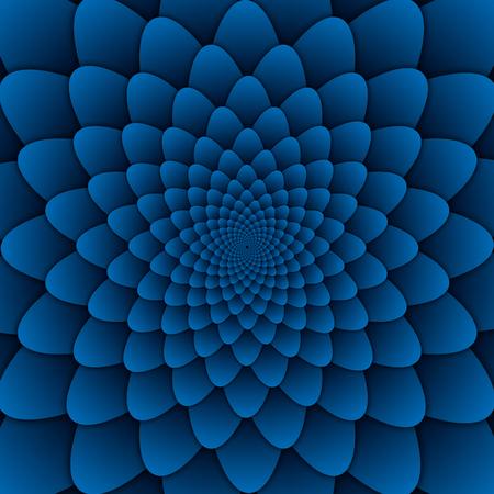abstract flower mandala decorative pattern blue background square image, illusion image pattern, background photo Фото со стока