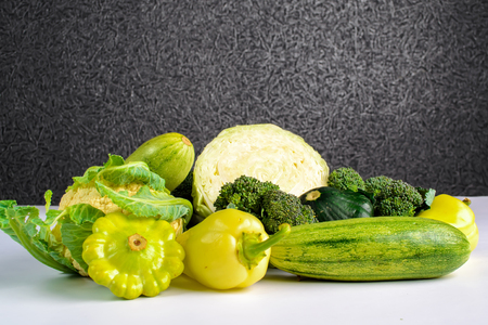 purifying: Fresh green vegetables Stock Photo