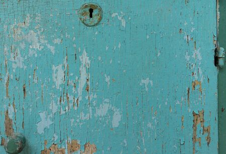 Old wooden surface painted in blue colors