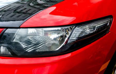 shiny car: Car lights