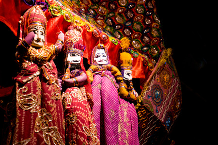 String puppets  Kathputhli  used to perform rajasthani folk songs and plays at fairs and festivals photo