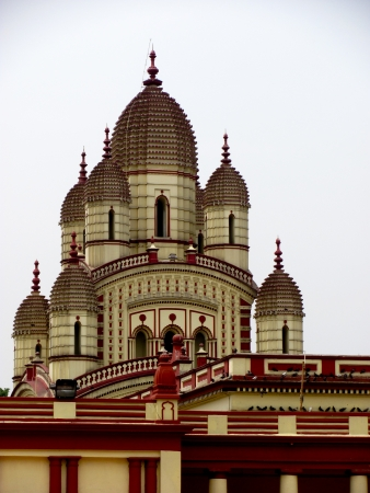 kali: Dakshineshwar temple of Kolkata is dedicated to the goddess Kali, said to provide freedom from the cycle of rebirth Stock Photo