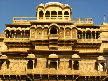Havelis (palace or opulent bungalow) were built to house important members of the kingdom. These were typically built of sandstone and were beautifully engraved and decorated Editorial
