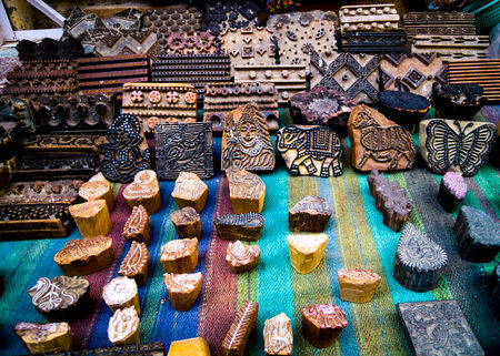 dies used for block printing which is a traditional textile decoration style in rajastan