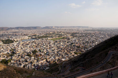 Jaipur city from the nargarh fort photo