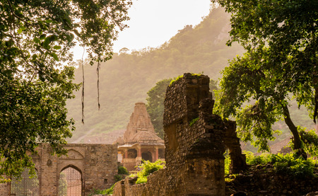 cursed: Ancient haunted temple in Bhangarh, Rajasthan India  The entire city is said to be cursed and inhabited by ghosts  This makes it a popular tourist destination