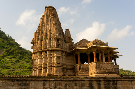 cursed: Ornate hindu temple dedicated to the god krishna  Gopinath   This is located in the famous haunted city of Bhangarh Rajasthan