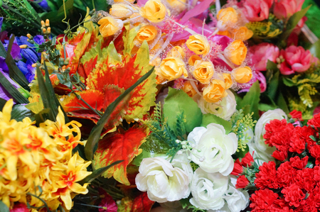 denoting: fresh colorful flowers denoting spring. Can be used to convey hapiness and used as an abstract Stock Photo