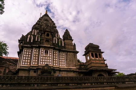 indore: Ujjain, India - 16th July 2016: The famous Ahilya fort during the monsoons. This famous landmark is a popular tourist destination just a few hours from Ujjain and Indore