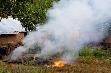alarming: Burning farm waste leading to high levels of pollution seen in Delhi NCR.