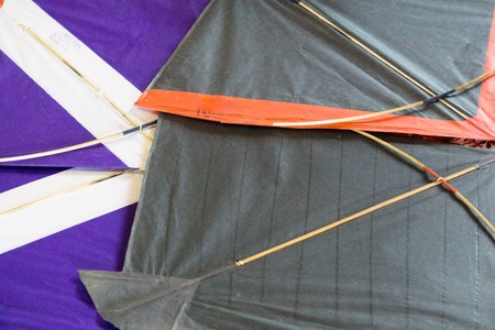 paper kites prepared for the sport of kite fighting. This is a popular sport in Rajasthan and gujrat during makar sankranti and uttarayan