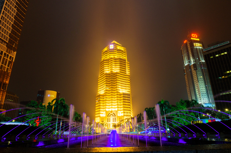 Public bank building at Suria KLCC at night