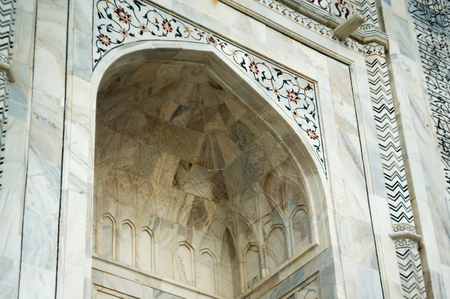 Marble arched doorway at the Taj Mahal