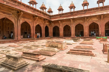 Grave markers at the Fatehpur Sikri fort