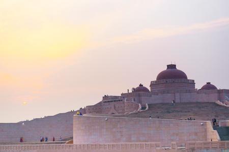 Closeup shot of the Ambedkar Stupa Luckow Stock Photo