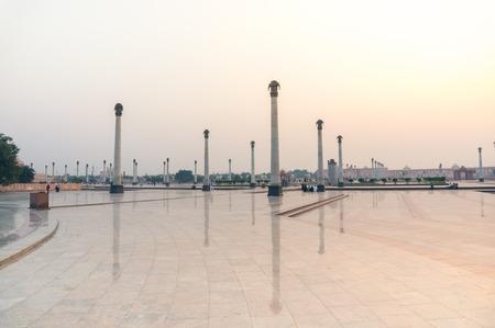Pillars depecting elephants at Ambedkar Park