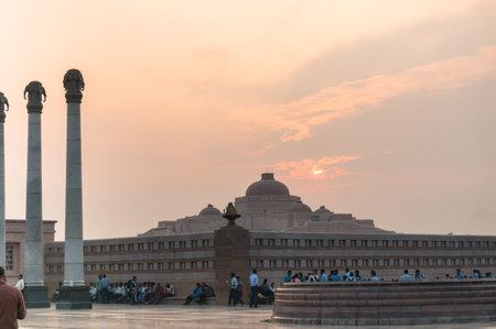 Ambedkar Park Lucknow shot at sunset