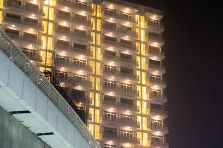 sky scraper with golden lights in Noida