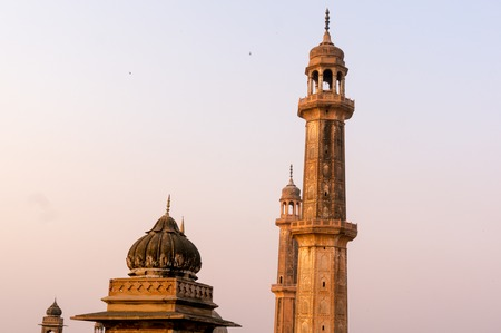 shot of dome and spires of a mosque