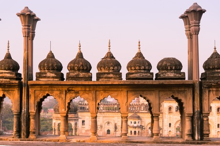 Arches and domes of sandstone, mughal architecture