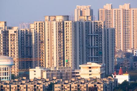 cityscape in indian city like noida gurgaon delhi Stock Photo