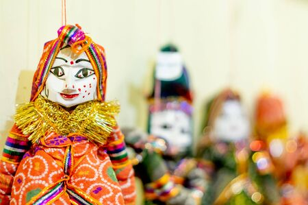 Traditional rajasthani puppets shot with a shallow depth of feild