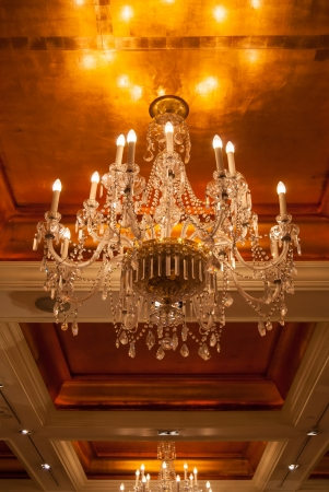 chandelier in grand ballroom photo