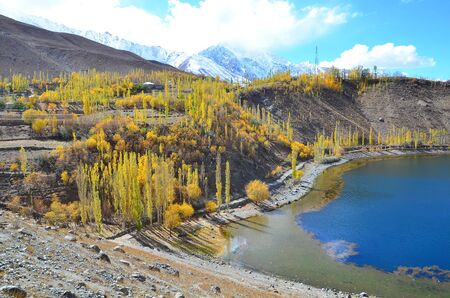 locate: This is autumn at phandur lake locate in northern of pakistan