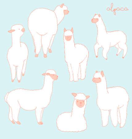 Alpaca set - peach