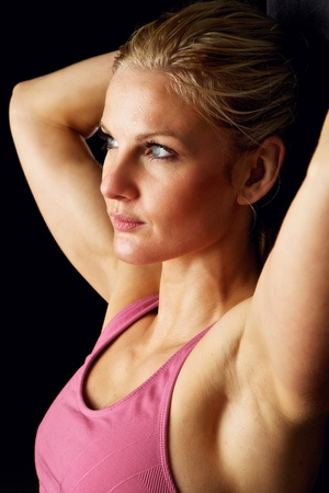 Headshot of beautiful fitness model in the 20s Stock Photo - 12883488