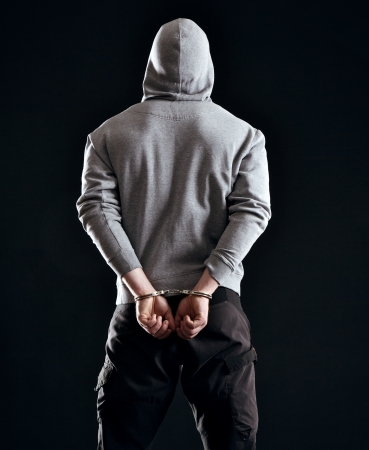 Man arrested as a consequence of his crime Stock Photo - 17935136