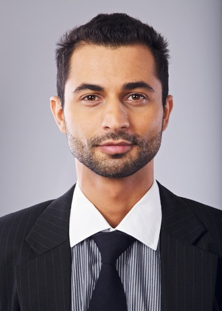 middle eastern ethnicity: Closeup portrait of a confident middle eastern businessman