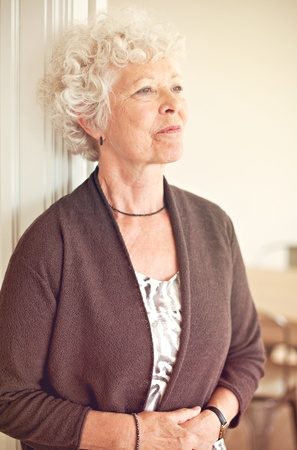 Senior woman looking away and thinking about something Stock Photo - 20899398