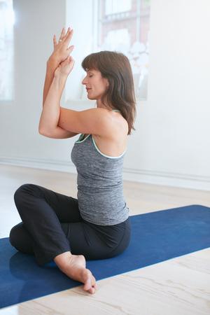 Mature yoga pants