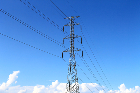 kw: High voltage with blue sky