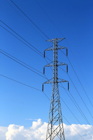volts: High voltage with blue sky