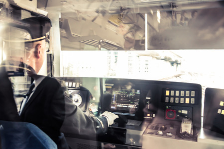 Train driver in Tokyo Japan