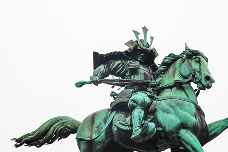 Tokyo Imperial Palace | Landmark samurai statue in Japan on March 31, 2017