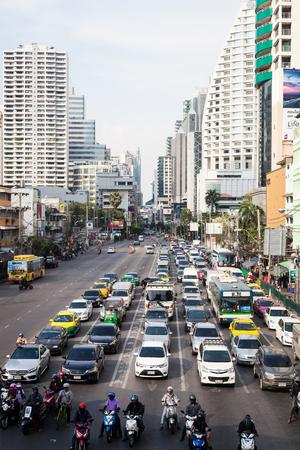 Bangkok traffic in Sukhumvit area