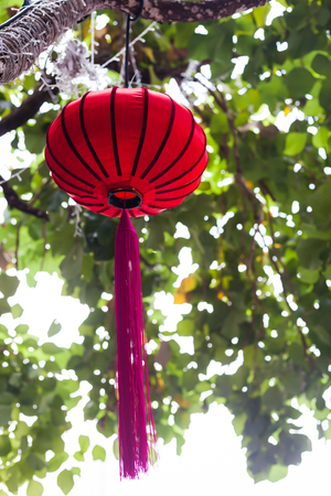 Chinese red lantern outdoor